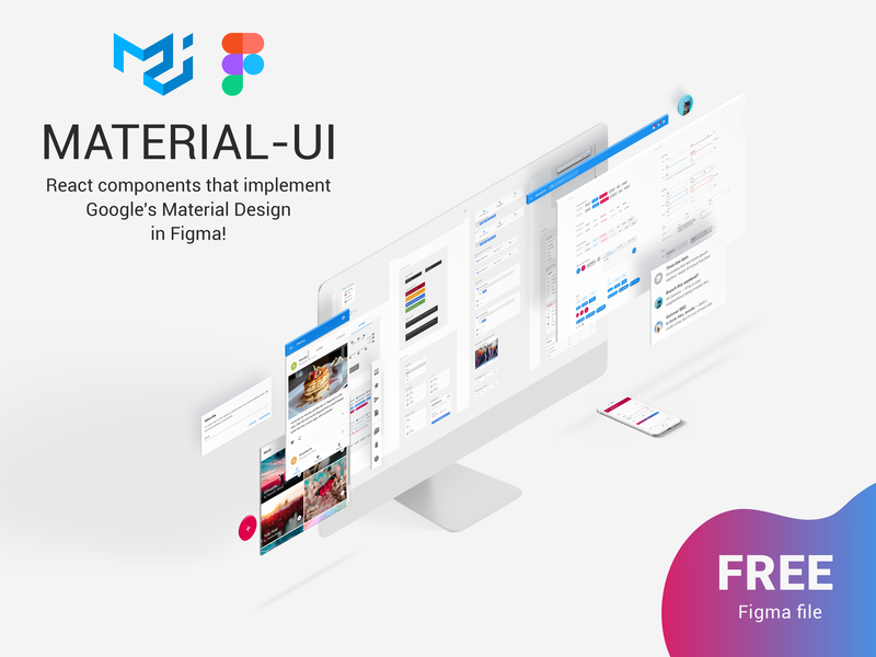 Material Ui React Components In Figma Free Down Uplabs
