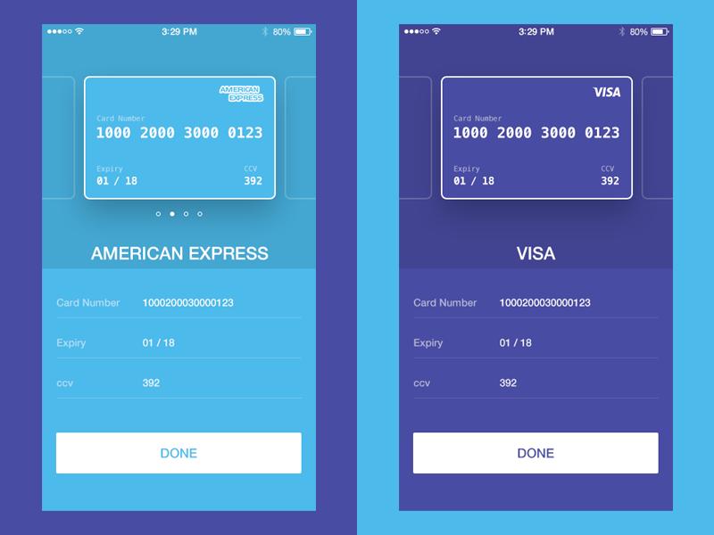 Credit Card Table Design