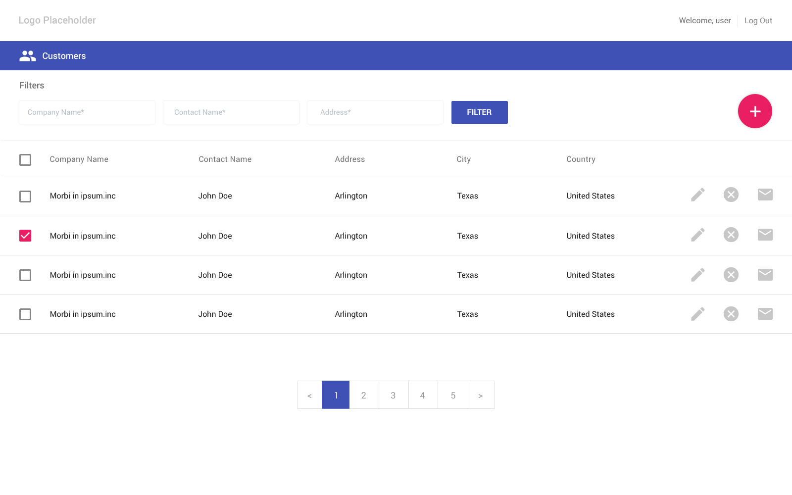 Free material design based login inner pages materialup for Table design ui