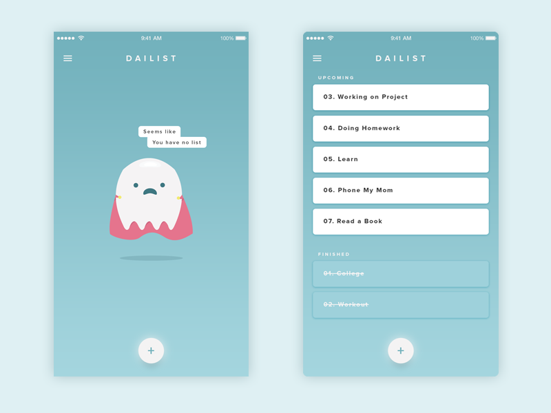 simple todo list app uplabs