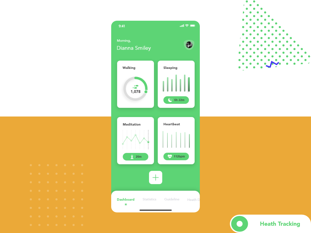 Health Tracking Concept Screen For Mobile App Search By Muzli