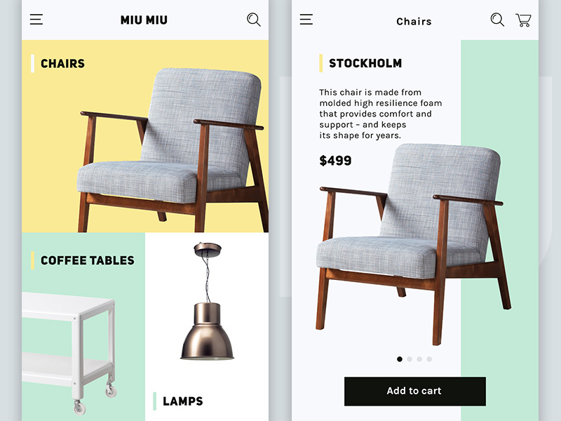 Ecommerce ui for furniture store uplabs for C furniture warehouse manukau
