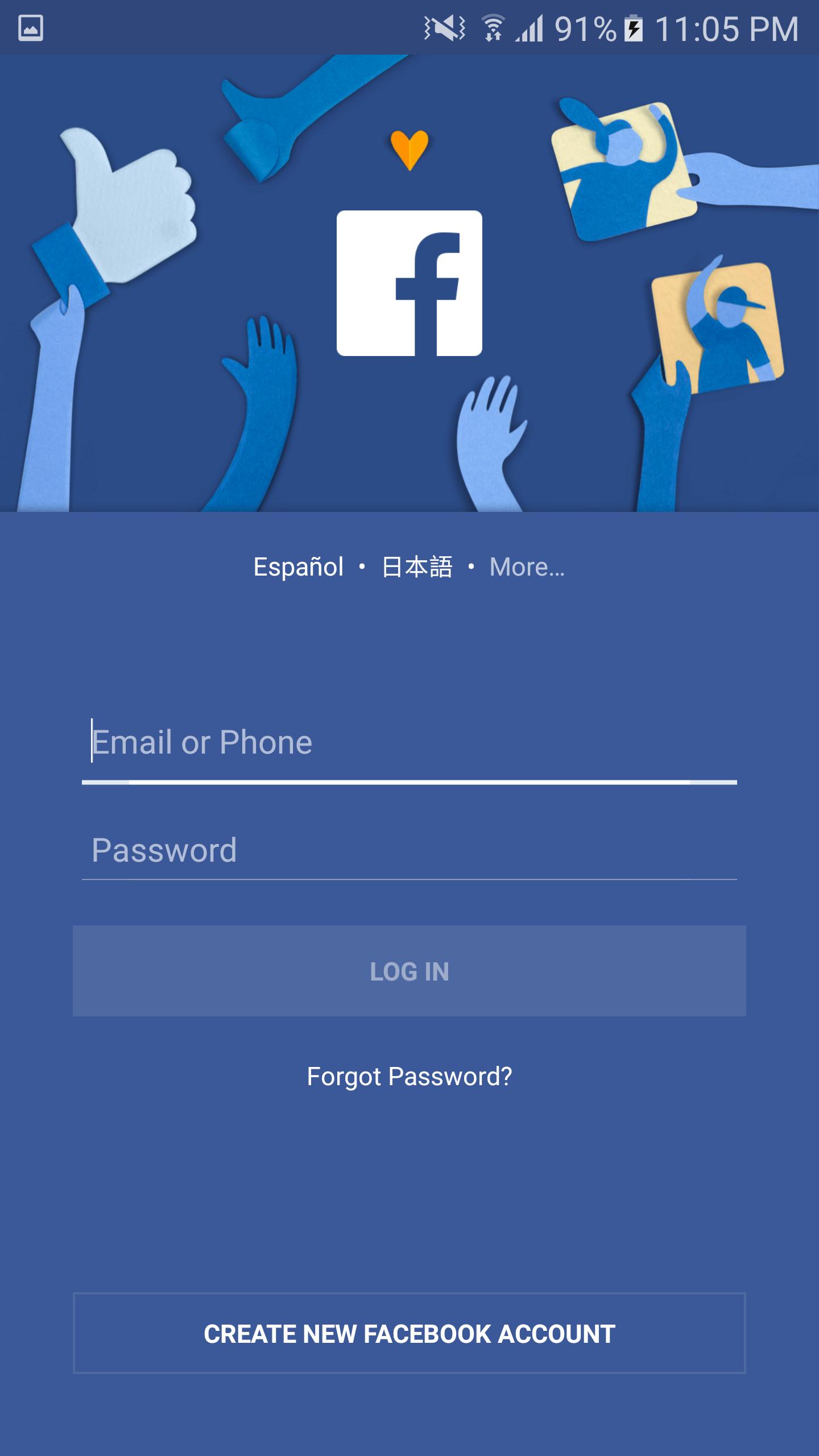 Facebook Login Sign Up New Account Login