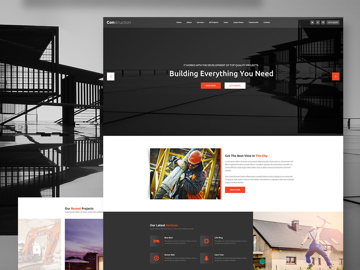 Construction Bootstrap Grid Multi Page - UpLabs