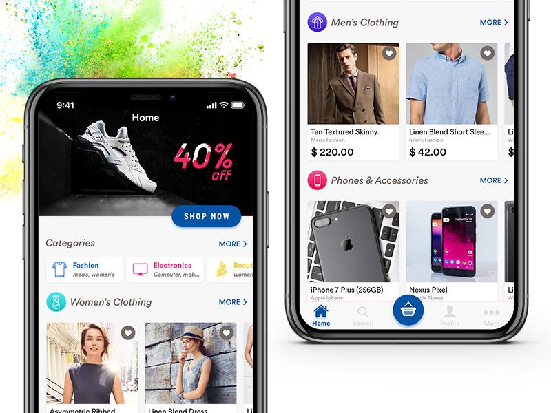 E-commerce App Home Screen Design - Uplabs