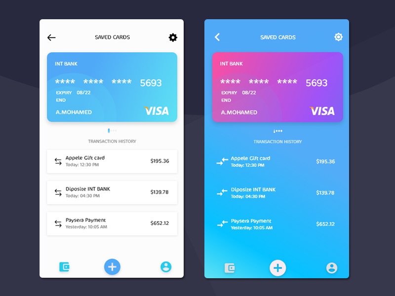 Design Finance App UI Adobe Xd - UpLabs