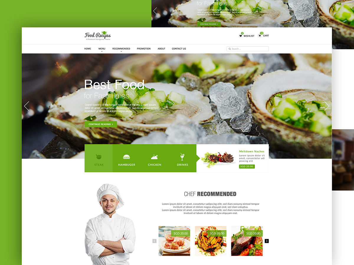 Food Restaurant Landing Page Search By Muzli