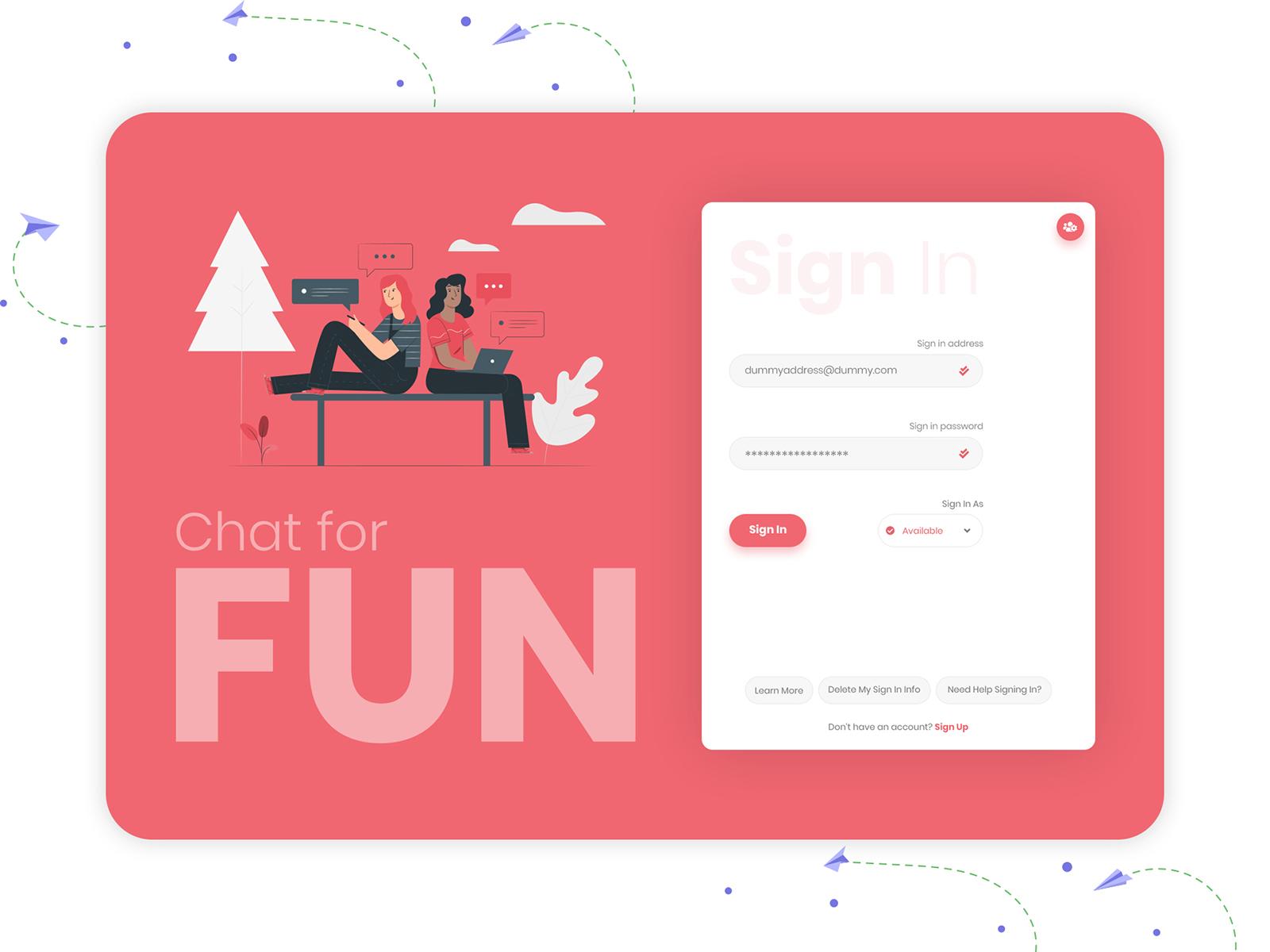 Chat web login