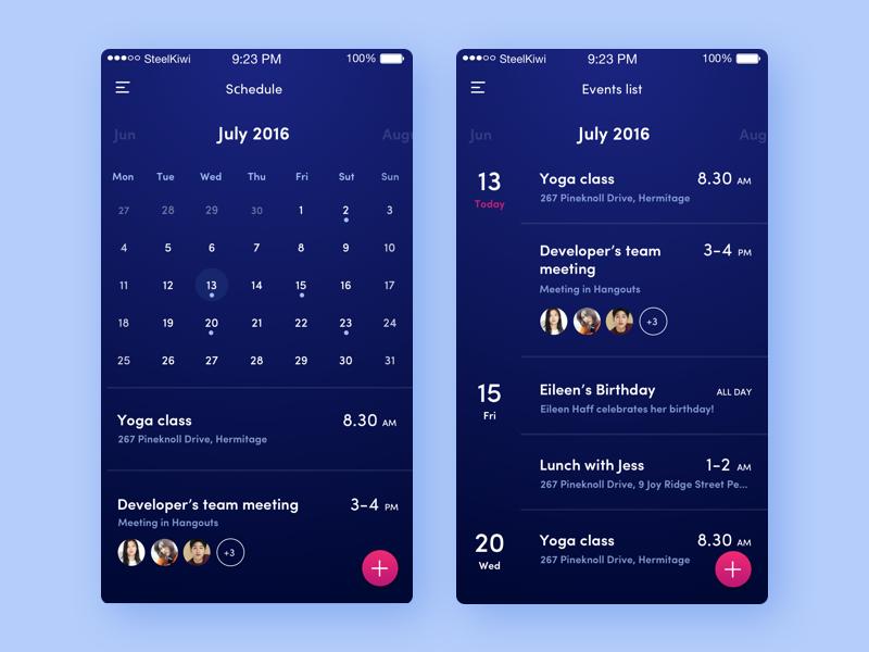 Weekly Calendar Ui : Calendar ui uplabs