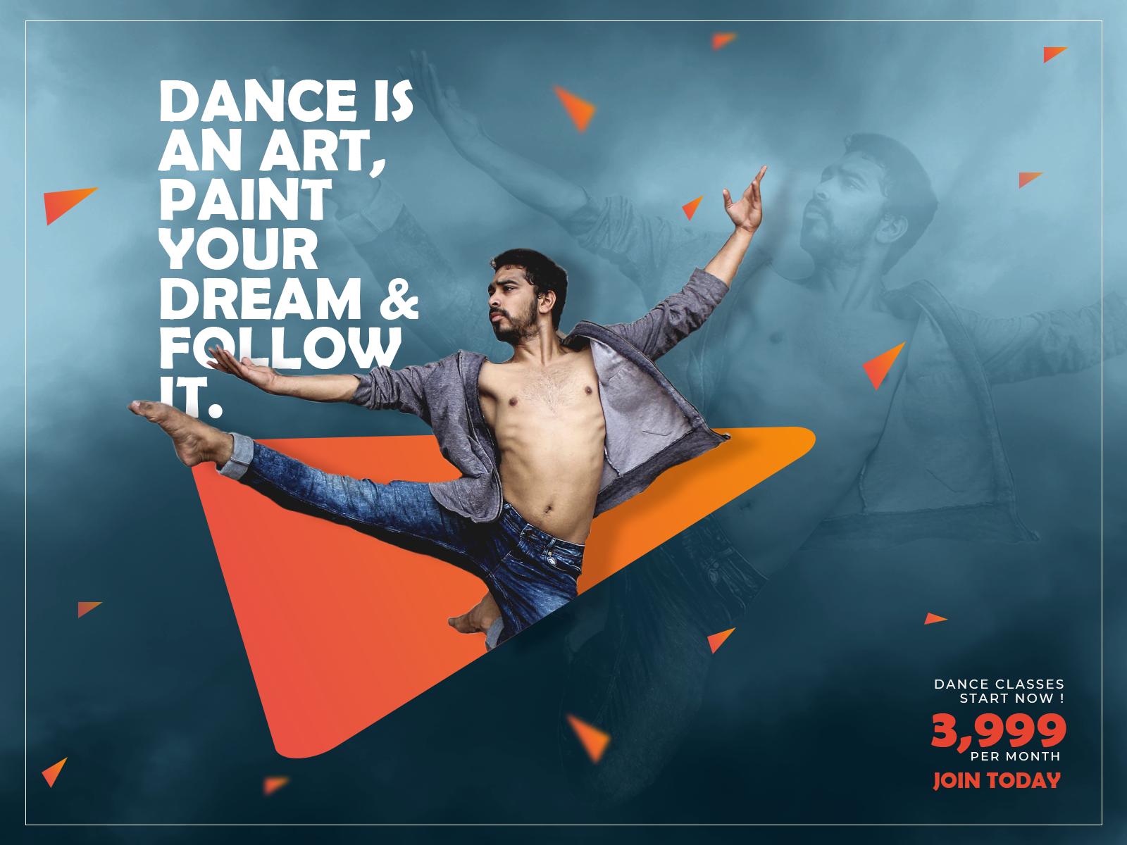 Dance Class Banner Design Uplabs