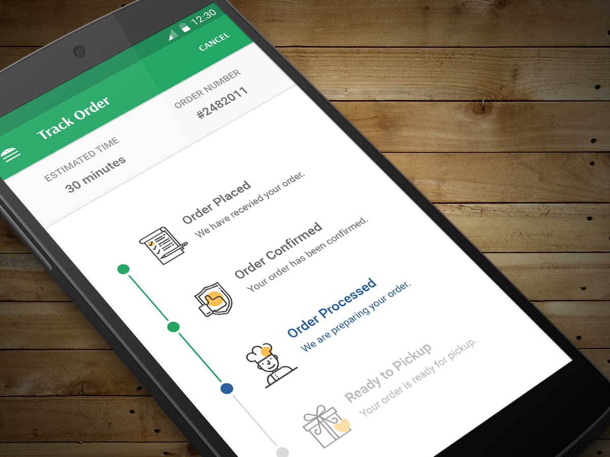 Food Delivery App Track Order - UpLabs