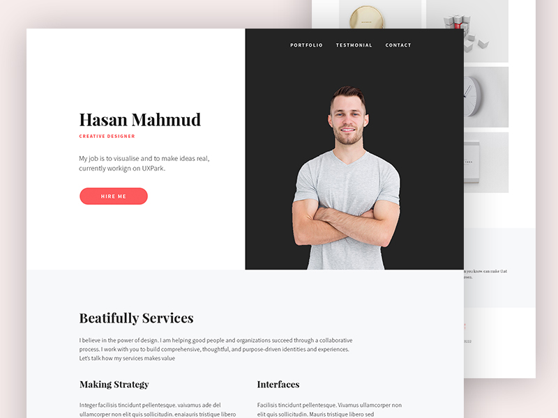 Personal Website Uplabs