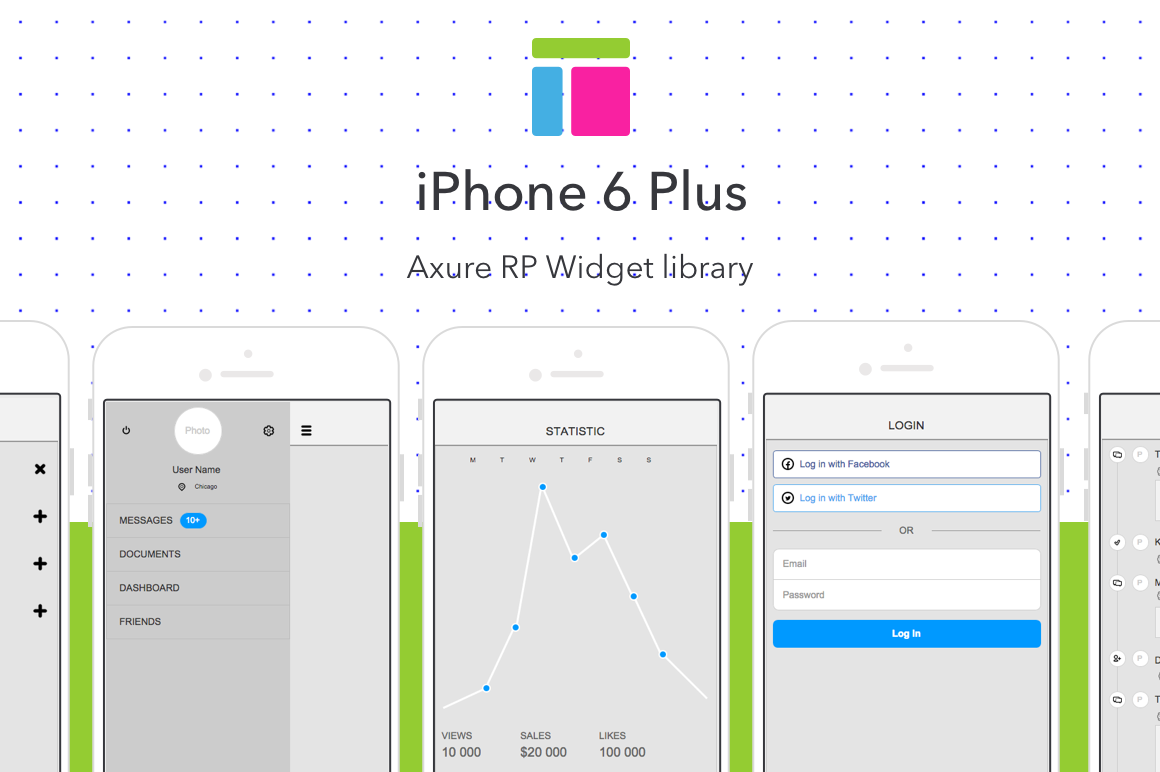 iPhone 6 Plus Axure RP Widget Library - Uplabs
