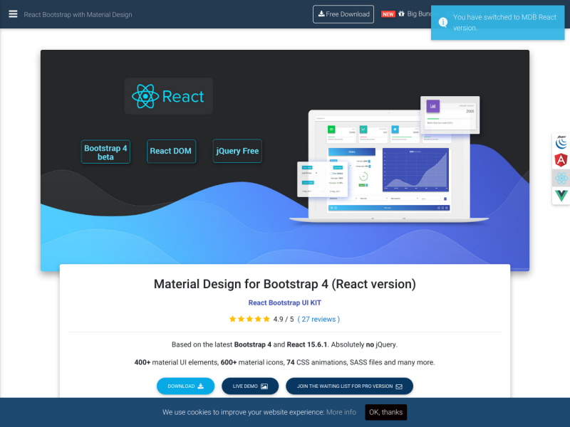 React Bootstrap with Material Design - UpLabs