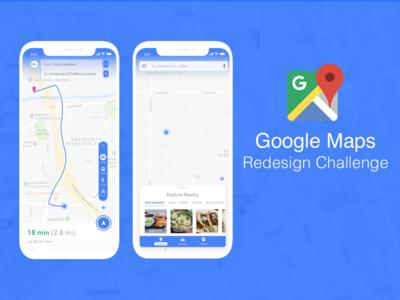 Google Maps Redesign Challenge - UpLabs