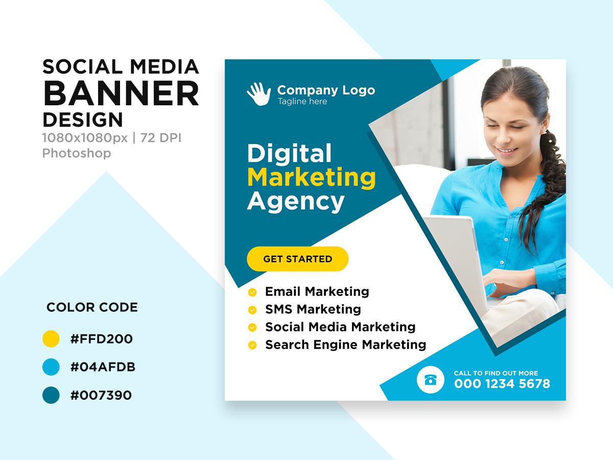 Digital Marketing Agency Banner Search By Muzli