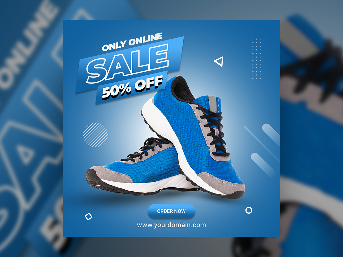 Off Shoes Social Media Post template
