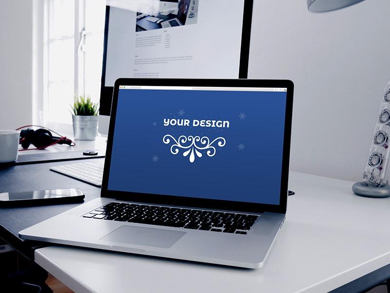 Macbook Pro Website Template Mockup Psd Search By Muzli