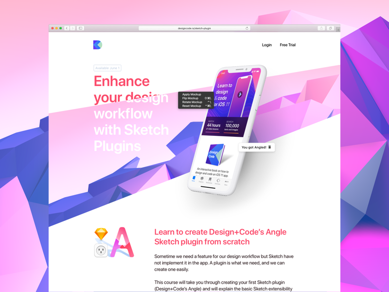 Sketch Plugin Course by Design+Code - Up