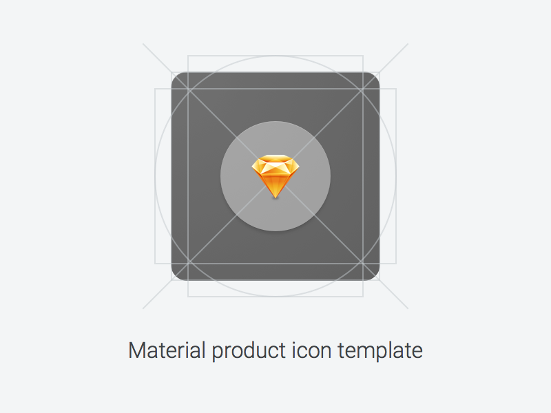 Material product icon template - Uplabs