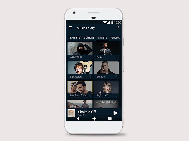 Google Play Music Dark Theme (Night Mode) - UpLabs