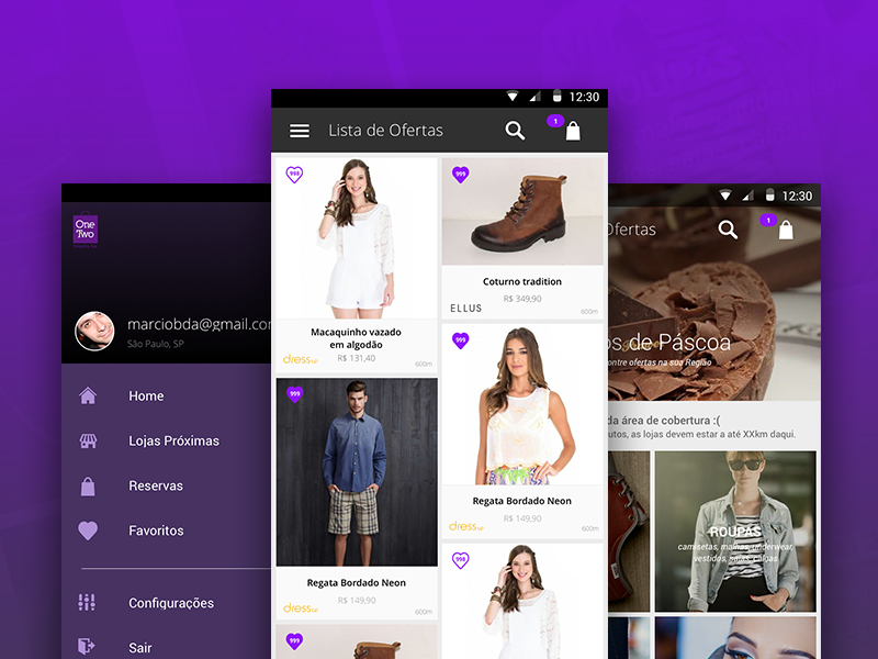 shopping app ui uplabs