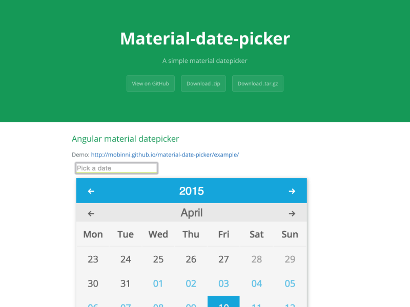 material-date-picker - UpLabs