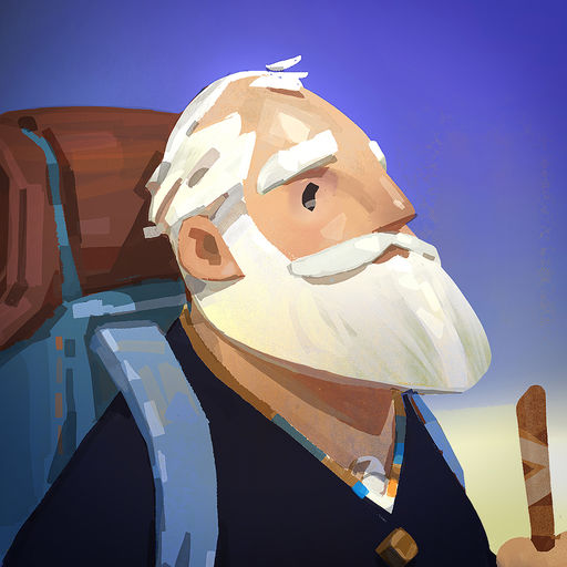 Old man's journey-visual