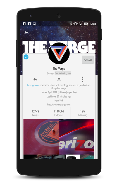 Tweetings for twitter android app materialup - Funformobile com login ...
