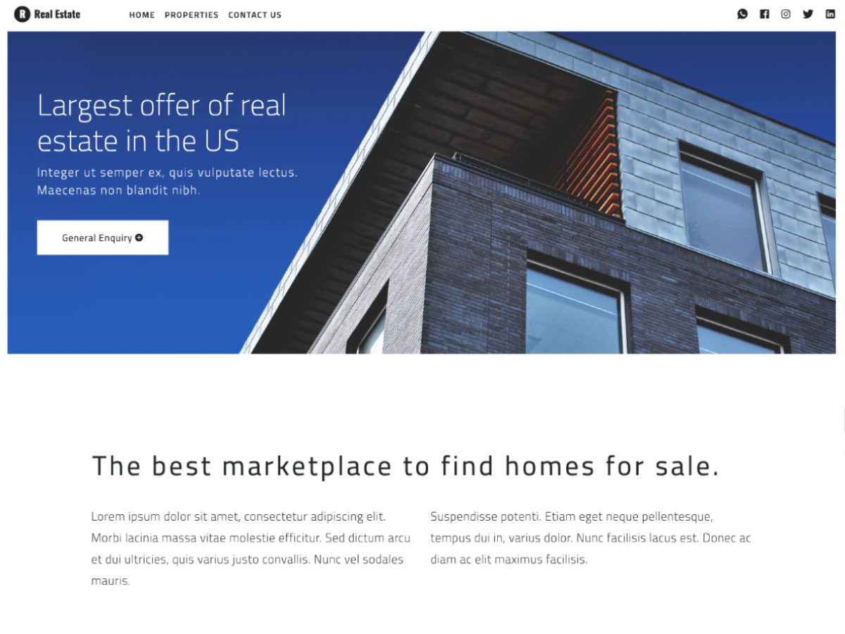 Bootstrap Real Estate Template Free from assets.materialup.com