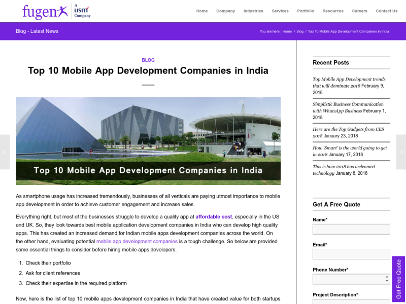 Top 10 Mobile App Development Companies In India Uplabs