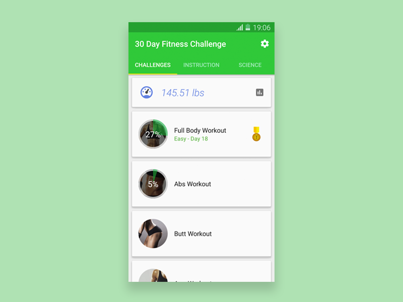 30 day fit challenge workout app - UpLabs