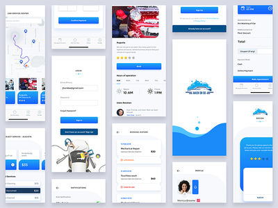 iOS & macOS UI made with Adobe XD - UpLabs