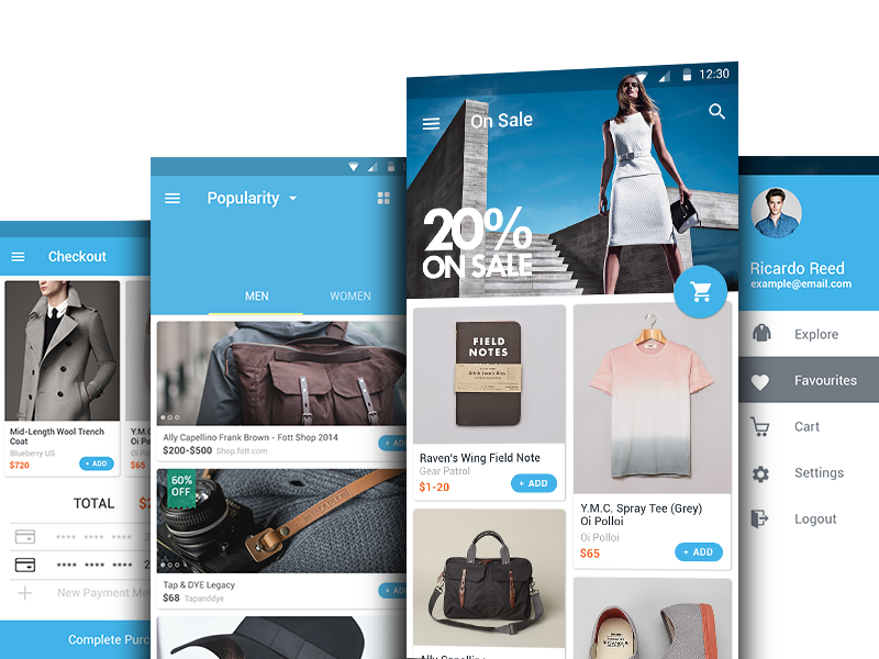 Glam Shopping Android L Uplabs