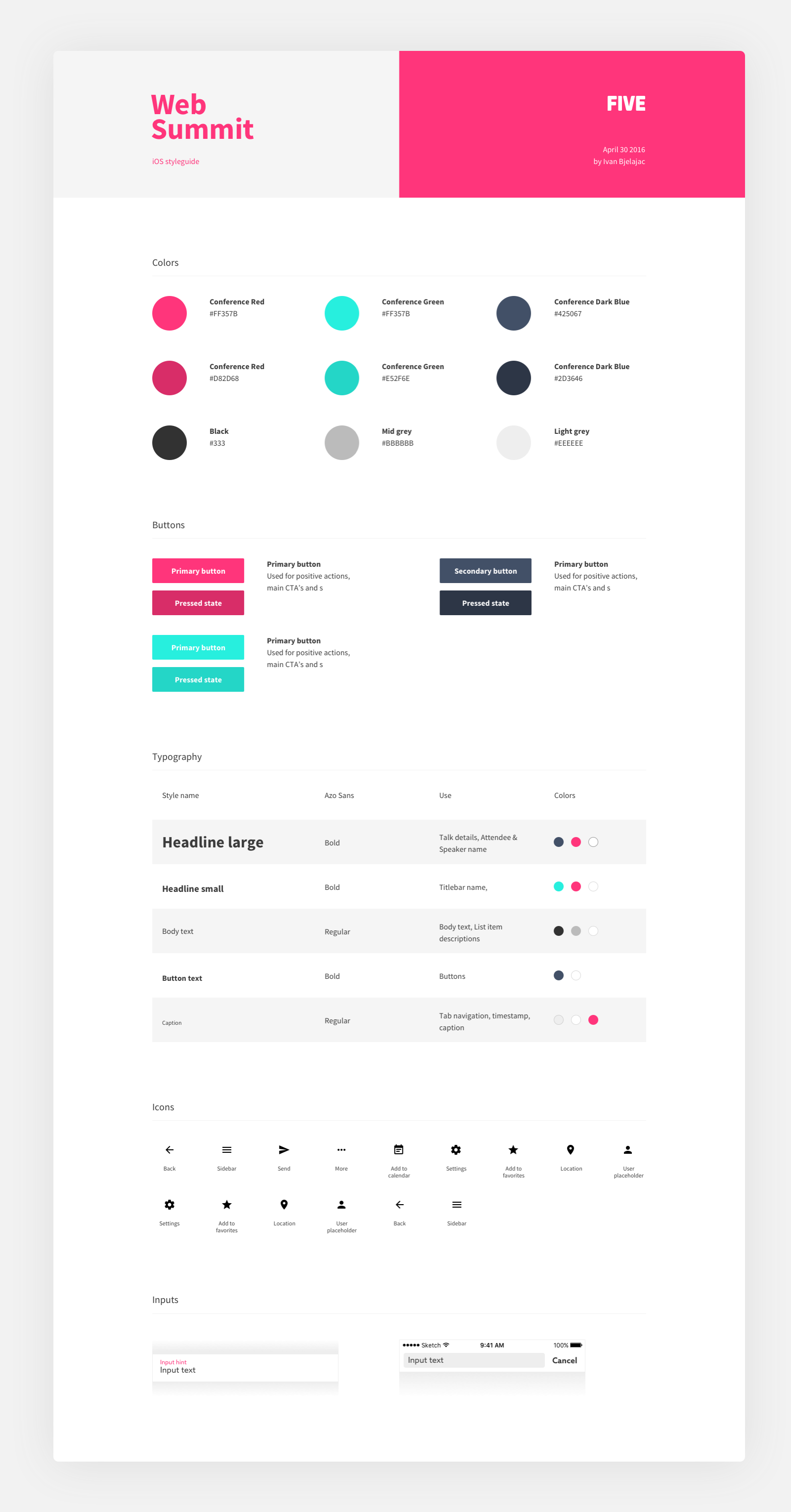 Free Styleguide Templates For Your Web Projects