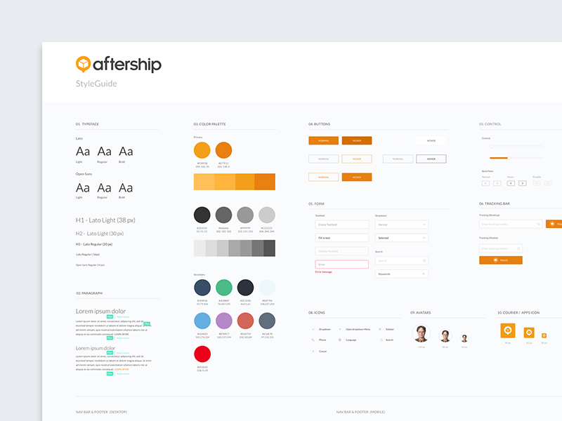Simple Web Design Style Guide Template