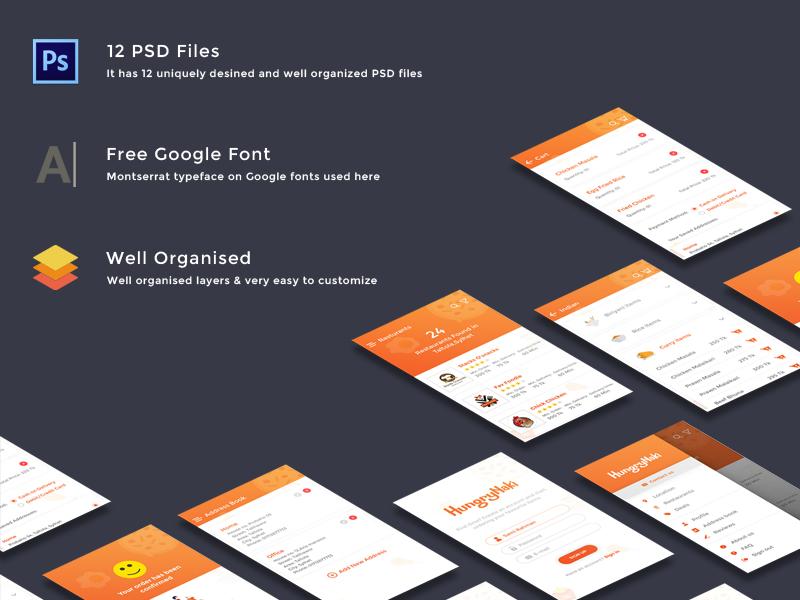 Food Delivery App UI Kit (PSD + Adobe XD + Sketch App) - UpLabs