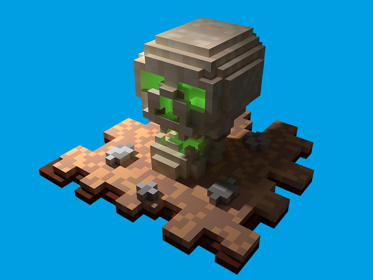 Happy Halloween Skull 3d Pixel Art Uplabs
