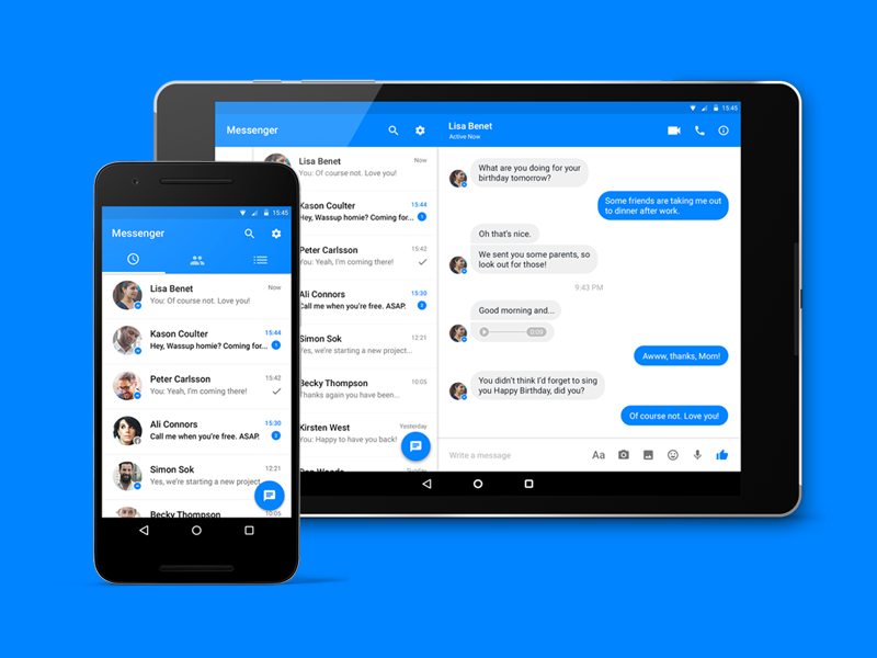 Facebook Messenger Redesign Uplabs