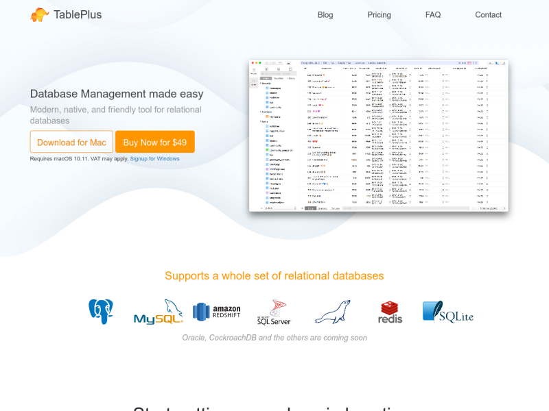 TablePlus Database Management - UpLabs