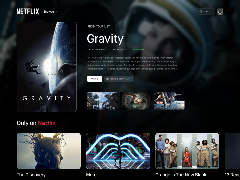 Netflix UI/UX Update - UpLabs