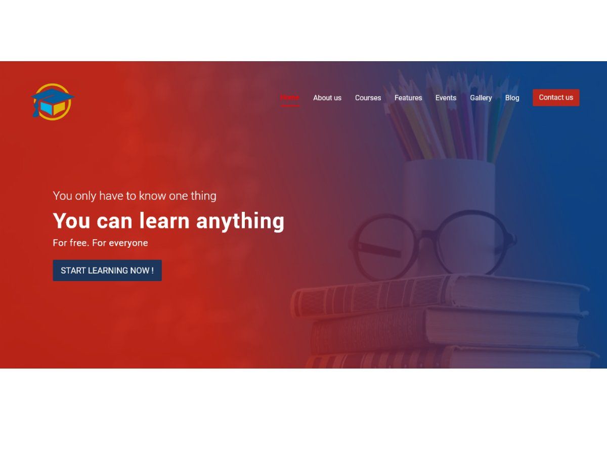 Education Website Banner Search By Muzli
