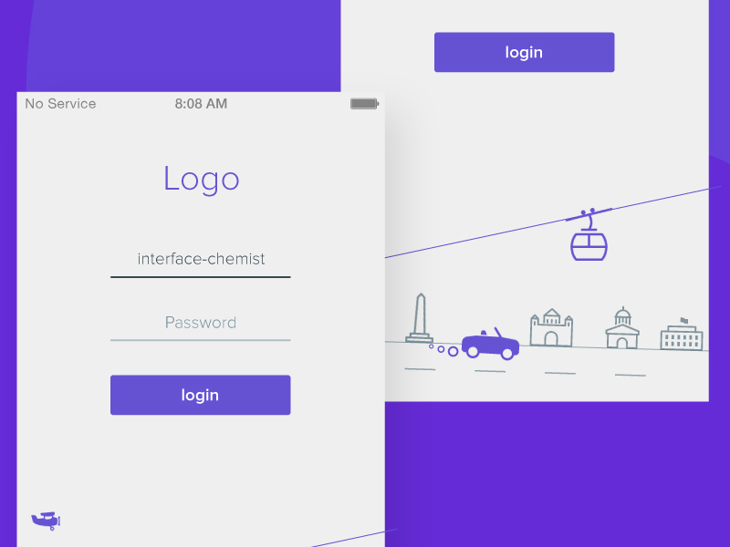Minimal Login Screen Uplabs