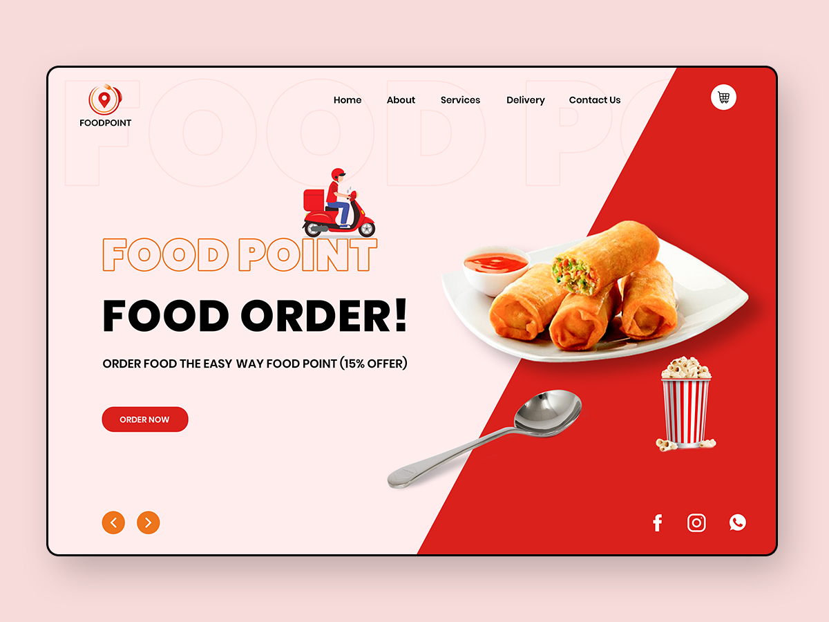 Food Delivery Landing Page Search By Muzli