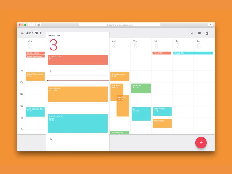 Calendar Material Design Javascript : Calendar prototype—framer js uplabs
