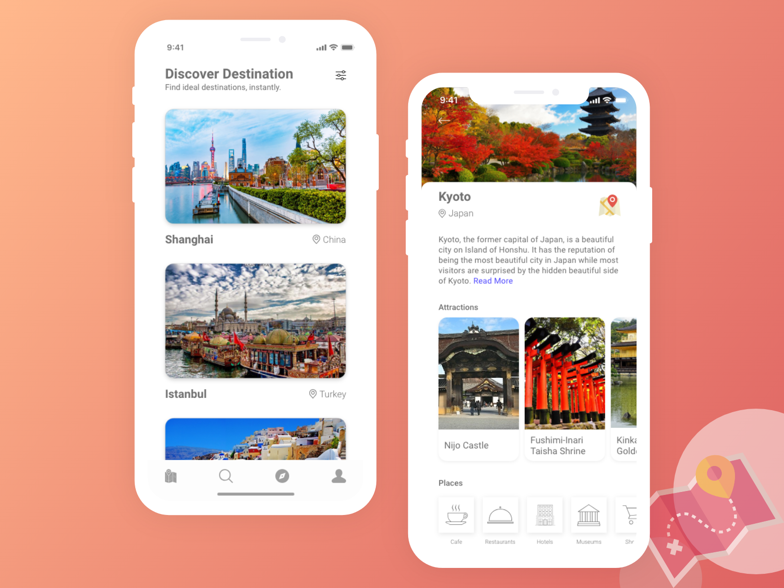 Travel App Screens with Adobe xd auto animate   Search by Muzli