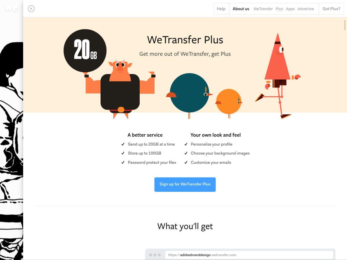 WeTransfer Form - UpLabs