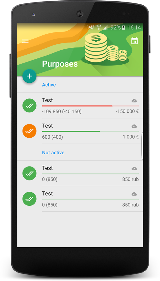 Financial Monitor Android App Uplabs