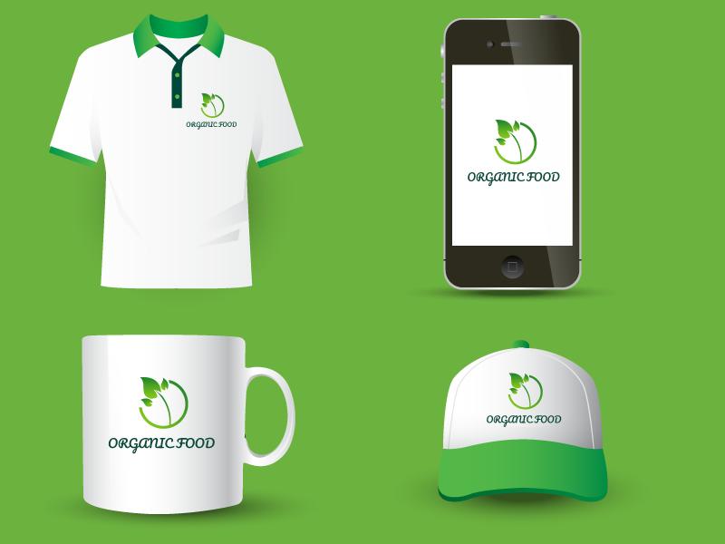 Organic Food Company Logo Uplabs