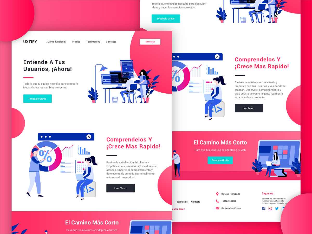 Free Web And Mobile Template Design Code Html Css Search By Muzli